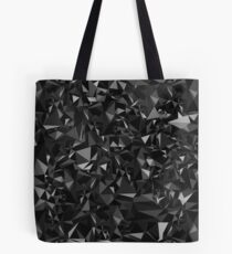Abstract Polygon Black Low Poly Triangle Art Dark Tote Bag