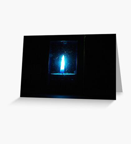 blue lantern Greeting Card