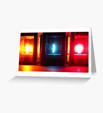 3 lanterns Greeting Card