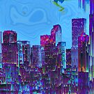 Glitch City with Surreal Sky by Jim Plaxco
