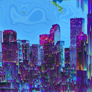 Glitch City with Surreal Sky by JimPlaxco