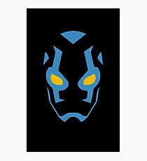 Blue Beetle Mask Photographic Print
