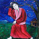 Geisha upon windy night by DarkRubyMoon