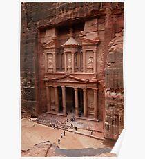 'The Treasury' in Petra, Jordan Poster