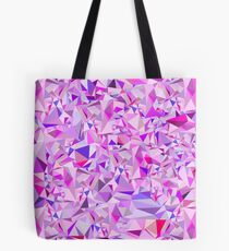 Abstract Polygon Purple Pink Low Poly Triangle Art Tote Bag