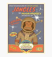 Fallout 4 - Jangles The Moon Monkey - Retro Advertisement Poster Photographic Print