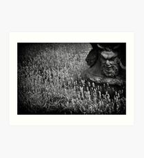 Devil planter at Athelhampton House Art Print
