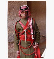 Guard at Petra, Jordan Poster