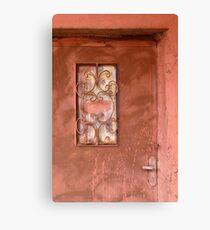 Door in Petra, Jordan Canvas Print