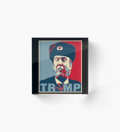 Trump Russia Poster Acrylic Block