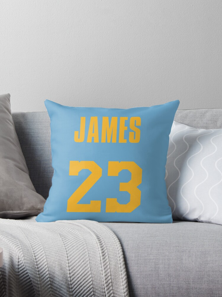 low priced dc172 282d8 'LeBron James MPLS Lakers Jersey' Throw Pillow by RatTrapTees