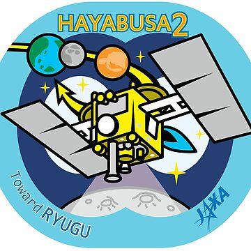 Hayabusa 2  Enroute To Ryugu Logo by Quatrosales