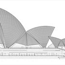 Sydney Opera House Architectural Drawing by Charles Fortin