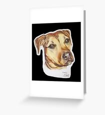 Gem staffie dog Greeting Card