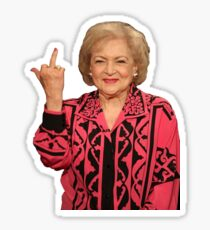 Betty White Mittelfinger Sticker