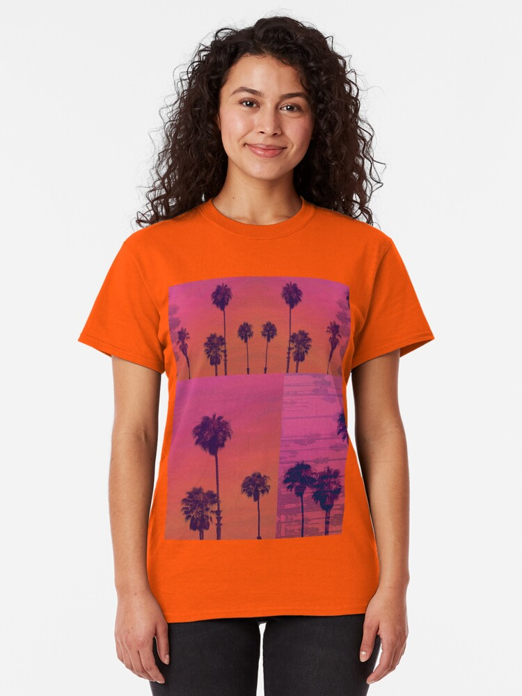 Alternate view of Santa Monica Palms Patch Classic T-Shirt