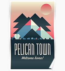 Pelican Town — Stardew Valley Travel Poster Poster