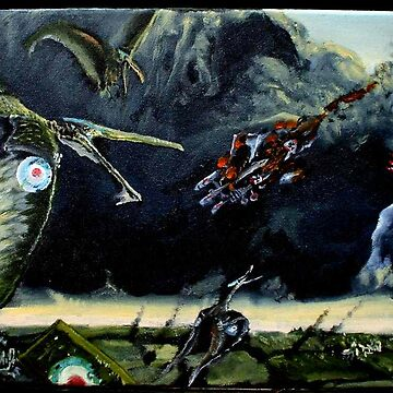 Major Billy Barker & his Pterosaur Squadron by flyingtrilobite