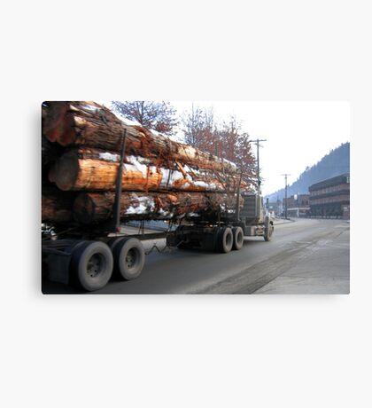 Americana • Timber 'jinker' truck, Orofino Idaho Metal Print