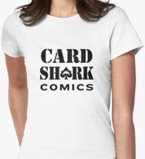Card Shark Comics - Black Logo Women's Fitted T-Shirt