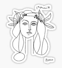 Picasso Head of a Woman Sticker