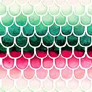 Retro Melon Mermaid Scales by SamNagel