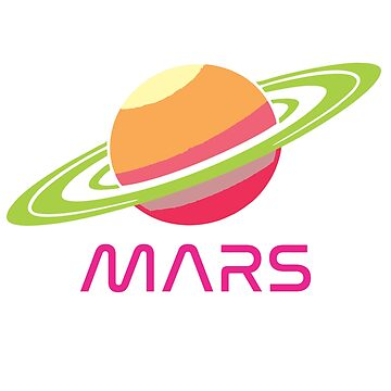 Colorful Retro Saturn Mars Shirt  by jaylundgreen