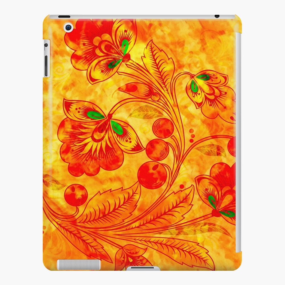 Orange Blumen iPad-Hülle & Skin
