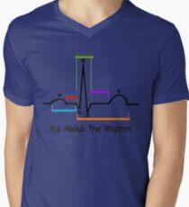 Herz-ST-Segment-Rhythmus T-Shirt mit V-Ausschnitt