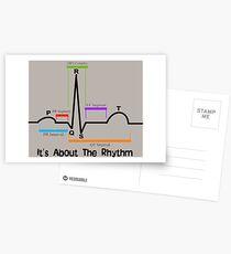 Cardiac ST Segment Rhythm Postcards