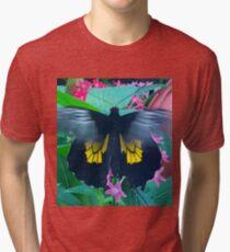 """Fluttering Beauty"", Photo / Digital Painting Tri-blend T-Shirt"