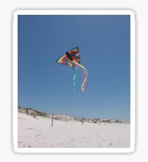 Butterfly Kite and Dunes Sticker
