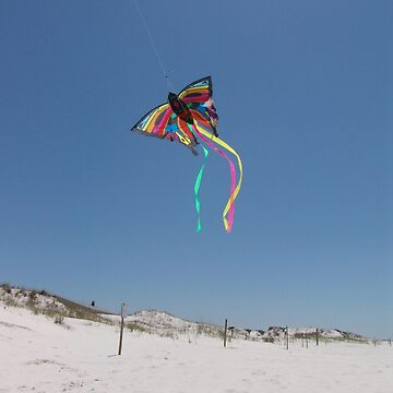 Butterfly Kite and Dunes by MayLattanzio