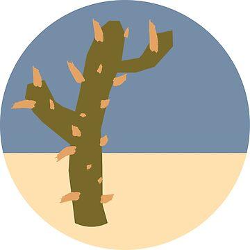Circular Simplistic Cactus Logo by rcschmidt