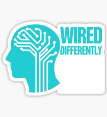 Wired - Tourette Syndrome Awareness Gift Sticker