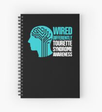 Wired - Tourette Syndrome Awareness Gift Spiral Notebook