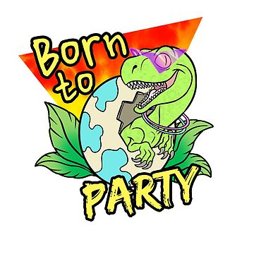 Velociraptor Born to Party Miami style by nyctherion