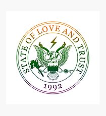State of Love and Trust Photographic Print
