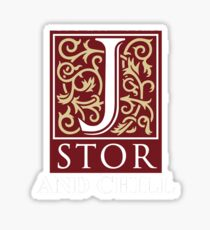 jstor and chill tshirt Sticker