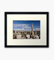 old grave site at liscannor Framed Print