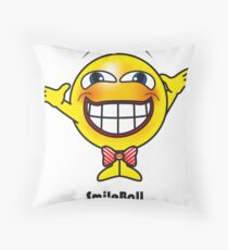 Smile Ball Throw Pillow