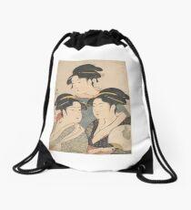 Three Beauties of the Kwansei Period Drawstring Bag