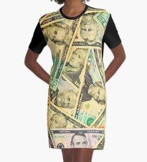 US DOLLARS Graphic T-Shirt Dress