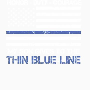 Thin Blue Line Family Shirt   American Flag Proud Son by orangepieces