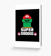 Super Daddio - Funny Gift For Father Greeting Card