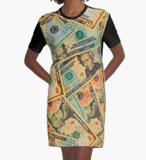 US DOLLARS 2 Graphic T-Shirt Dress