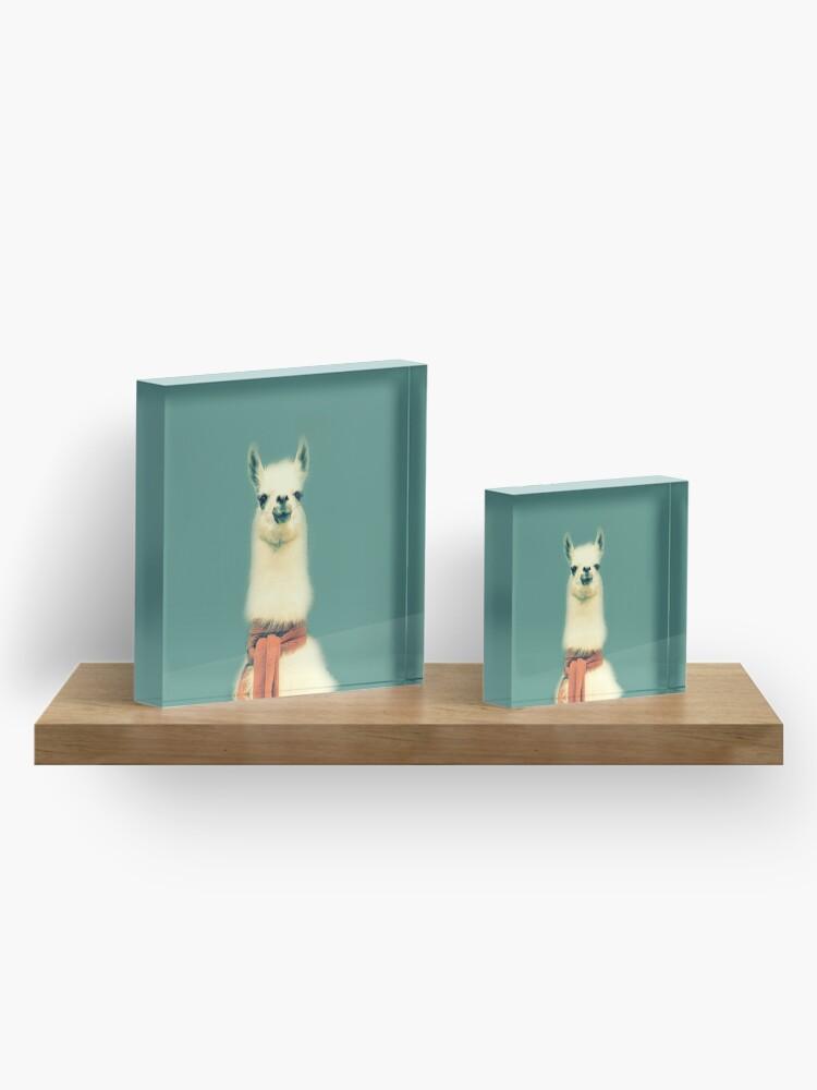 Alternate view of Llama Acrylic Block