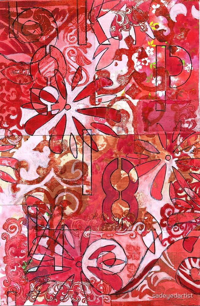 Red Abstract by sadeyedartist