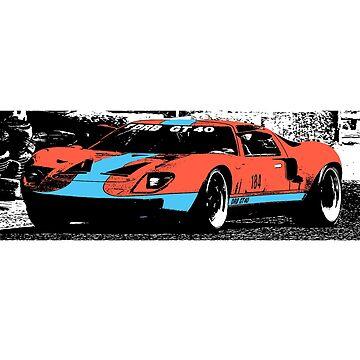 Ford GT40 (Gulf paint scheme) by Holneub