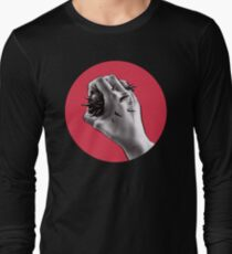 Painful Experiment With Stabbed Hand | Digital Art Long Sleeve T-Shirt